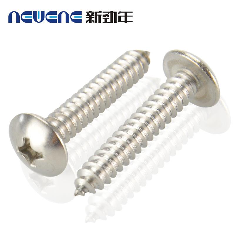 304不锈钢大扁头自攻螺丝 自攻螺钉 圆头螺丝